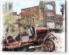 Miners Truck Acrylic Print by Dale Stillman