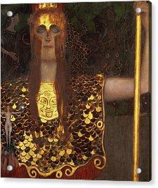 Minerva Acrylic Print by Gustav Klimt