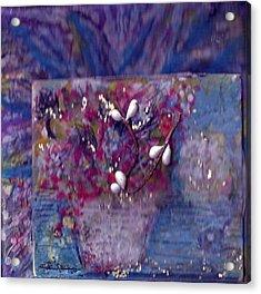 Miniature Moment Flowers Acrylic Print by Anne-Elizabeth Whiteway