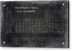 Minimalist Periodic Table Acrylic Print by Daniel Hagerman