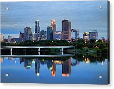 Minneapolis Reflections Acrylic Print by Rick Berk