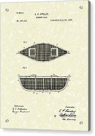 Minnow Boat 1887 Patent Art Acrylic Print by Prior Art Design