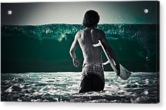 Mint Surf Acrylic Print by Loriental Photography