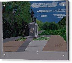 Minuteman Memorial Acrylic Print by William Demboski