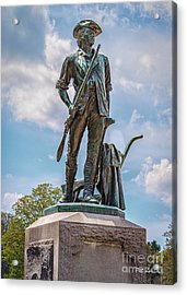 Minuteman Statue Acrylic Print by Pat Lucas