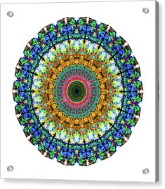 Miracle Mandala Art By Sharon Cummings Acrylic Print by Sharon Cummings