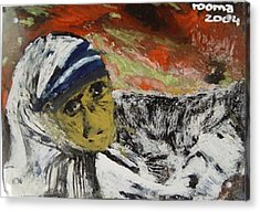 Miracle Mother Acrylic Print by Rooma Mehra