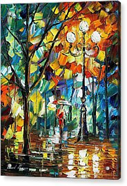 Miracle - Palette Knife Oil Painting On Canvas By Leonid Afremov Acrylic Print by Leonid Afremov