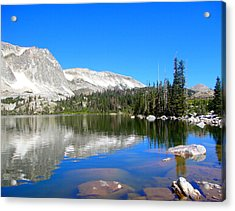 Mirror Lake Wyoming Acrylic Print by Kristina Chapman