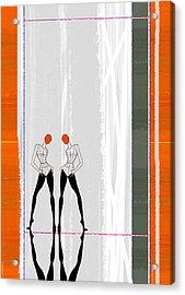 Mirror Reflections Acrylic Print by Naxart Studio