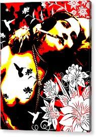 Mischievious Hummingbird Acrylic Print by Chris Andruskiewicz
