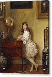 Miss Annie Harmsworth In An Interior Acrylic Print by Sir William Orpen