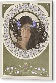Miss Bluebell Acrylic Print by Cassiopeia Art