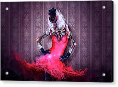 Miss Red Acrylic Print by Robert Palmer