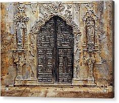 Mission San Jose Church Entrance Acrylic Print by Joey Agbayani
