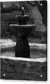 Mission San Juan Capistrano Fountain Acrylic Print by Brad Scott