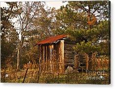 Mississippi Corn Crib Acrylic Print by Tamyra Ayles