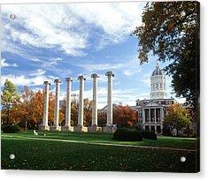 Missouri Columns And Jesse Hall Acrylic Print by University of Missouri