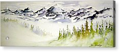 Mist In The Mountains Acrylic Print by Joanne Smoley