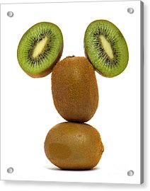 Mister Kiwi Acrylic Print by Olivier Le Queinec