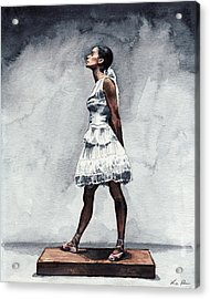 Misty Copeland Ballerina As The Little Dancer Acrylic Print by Laura Row