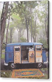misty Morning Acrylic Print by Sharon Poulton