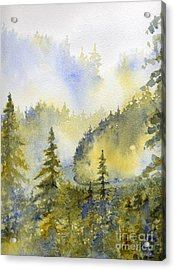 Misty Mountain Morning Acrylic Print by Lisa Bell