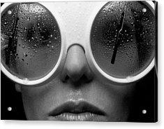 Misty Acrylic Print by Sandy Ostroff