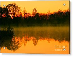 Misty Sunrise Acrylic Print by Morgan Hill