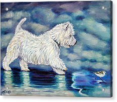 Misty - West Highland Terrier Acrylic Print by Lyn Cook