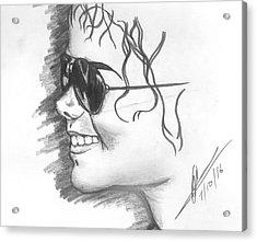 MJ Acrylic Print by Collin A Clarke