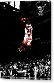 Mj Rises Acrylic Print by Brian Reaves