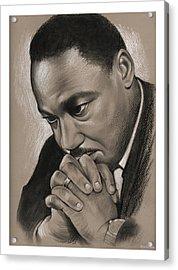 MLK Acrylic Print by Greg Joens