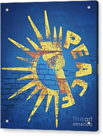 Moar Peace Acrylic Print by Laura Brightwood