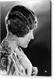 Model Wearing Her Hair In The Glorias Acrylic Print by Everett
