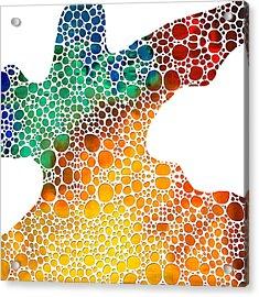 Modern Art - Colorforms 1 - Sharon Cummings Acrylic Print by Sharon Cummings
