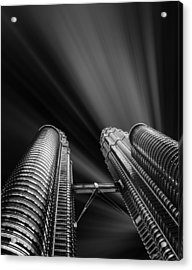 Modern Skyscraper Black And White Picture Acrylic Print by Stefano Senise