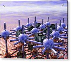 Modular City Acrylic Print by Nicholas Burningham