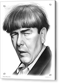 Moe Howard Acrylic Print by Greg Joens