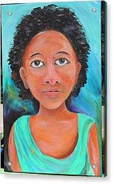 Mona Acrylic Print by Debbie Hall