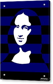 Mona Lisa Acrylic Print by Asbjorn Lonvig