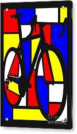 Mondrianesque Road Bike Acrylic Print by Sassan Filsoof
