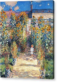 Monet: Garden/vetheuil Acrylic Print by Granger