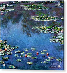 Monet: Waterlilies, 1906 Acrylic Print by Granger
