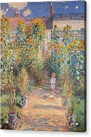 Monets Garden In Vetheuil Acrylic Print by Claude Monet