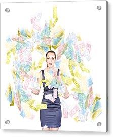 Money Celebration Of Reward And Financial Success Acrylic Print by Jorgo Photography - Wall Art Gallery