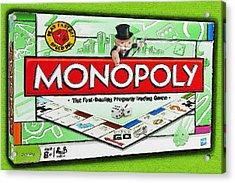 Monopoly Board Game Painting Acrylic Print by Tony Rubino