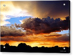 Monsoon Sunset Acrylic Print by David Coyle