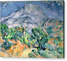 Mont Sainte Victoire Acrylic Print by Paul Cezanne