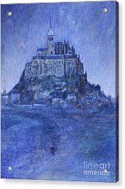 Mont St Michel Acrylic Print by Andy  Mercer